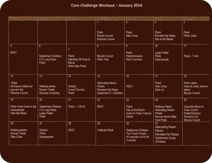 Core Challenge Workout - January 2014